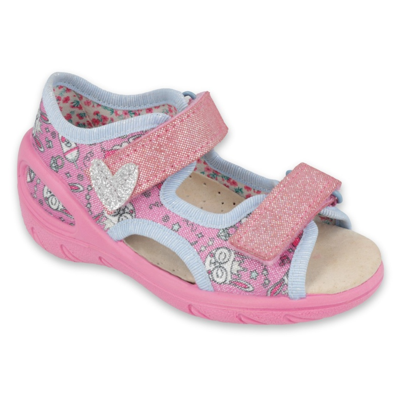 Pantofi pentru copii Befado pu 065X147 roz argint gri