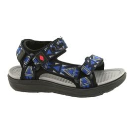 Sandale încălțăminte pentru copii insert din spumă Lee Cooper 20S-TS-037-1 negru albastru gri
