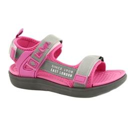 Sandale fete pantofi Lee Cooper 20S-TS-031 insertie din spumă roz gri