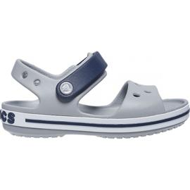 Sandale Crocs pentru copii Crosband Sandal Kids gri-bleumarin 12856 01U albastru marin