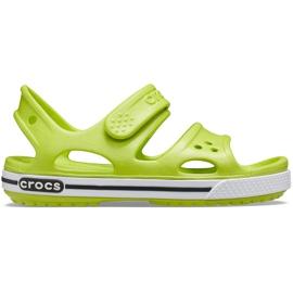Sandale Crocs pentru copii Crocband Ii Sandal lime-black 14854 3T3 verde