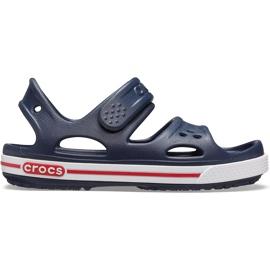 Sandale Crocs pentru copii Crocband Ii Sandal bleumarin-alb 14854 462 albastru marin