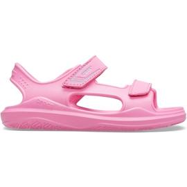 Sandale Crocs pentru copii Swiftwater Expedition roz 206267 6M3