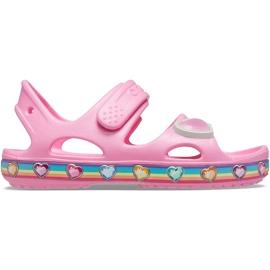 Sandale pentru copii Crocs Fun Lab Rainbow roz 206795 669