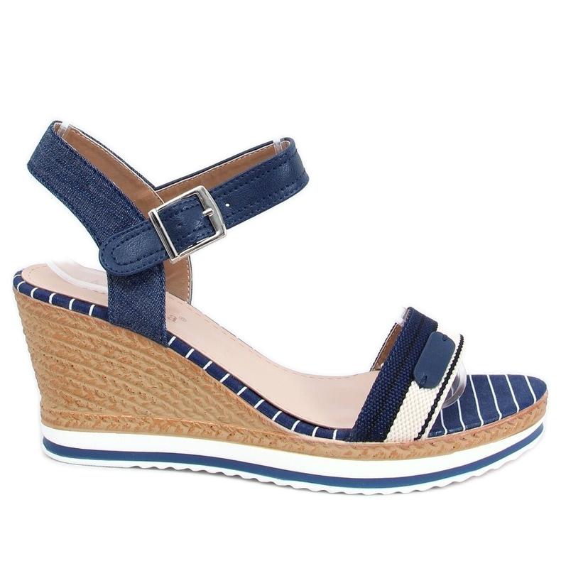 Sandale bleumarin pe pene A89832 Albastru