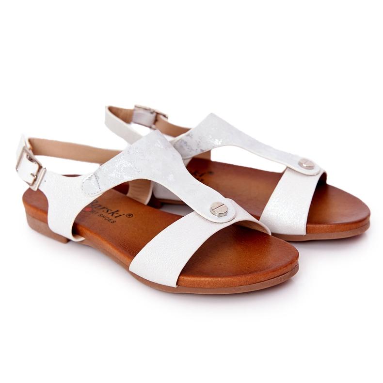 S.Barski Sandale pentru copii S. Barski Comfort Silver argint