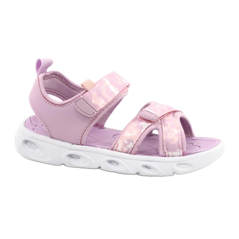 Sandale ușoare la modă Moro Sport RL30 / 21 American Club alb violet roz