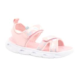 Sandale ușoare la modă Moro Sport RL30 / 21 American Club alb roz gri