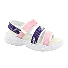 American Club Sandale sport Insert din piele RL29 / 21 Roz-Violet alb