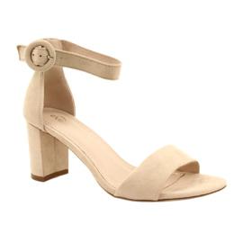 Sandale pe toc Beige Evento 20SD98-1617 bej