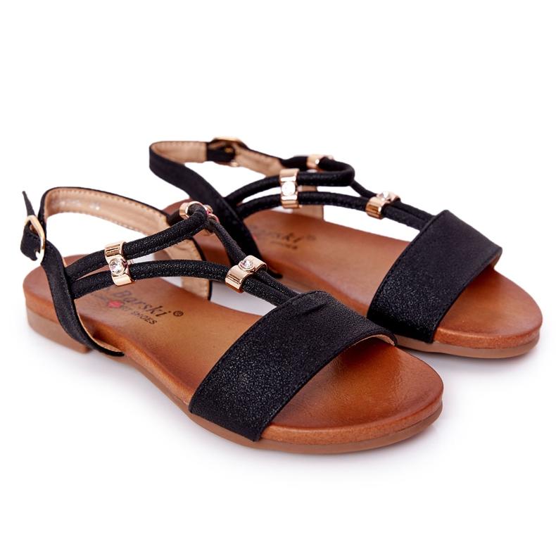 S.Barski Sandale pentru copii S. Bararski Comfort Black negru