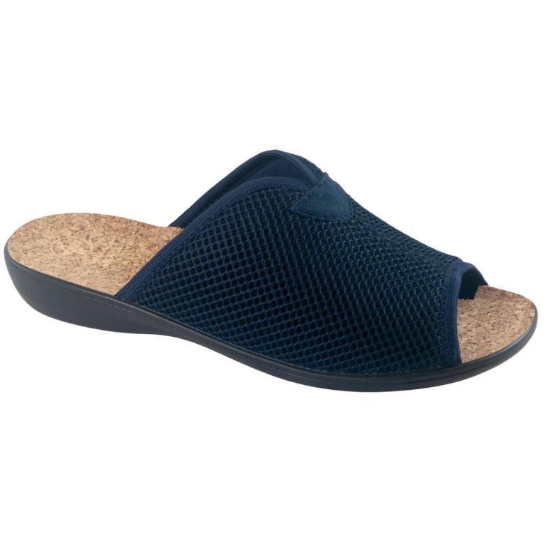 Papuci Papuci Cu Plută Adanex BIO 26008 Albastru marin bleumarin