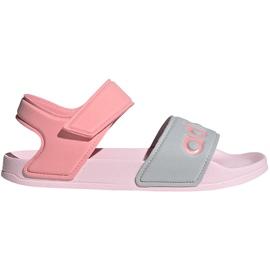 Sandale pentru copii adidas Adilette Sandal K gri-roz FY8849