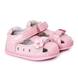 Apawwa Sandale pentru copii cu flori roz cu velcro