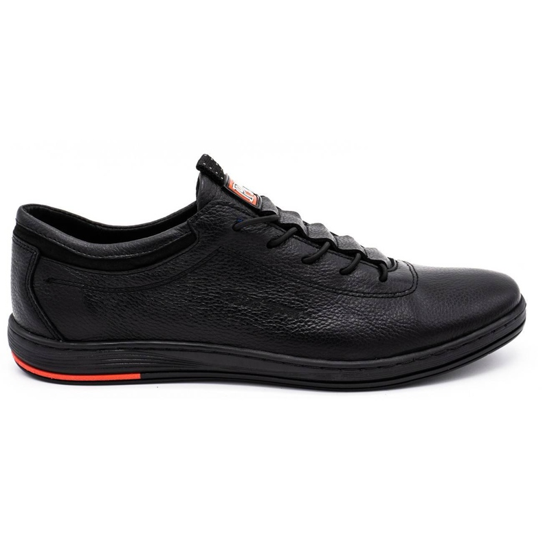 Polbut Pantofi casual pentru bărbați din piele K23 negru