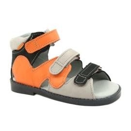 Sandale profilactice înalte Mazurek 291 gri portocaliu