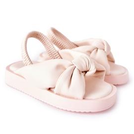 FR1 Sandale pentru copii cu gumă cu bule roz roz