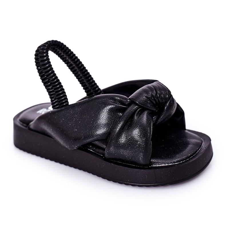 FR1 Sandale pentru copii cu manșetă Bubble Gum Negru