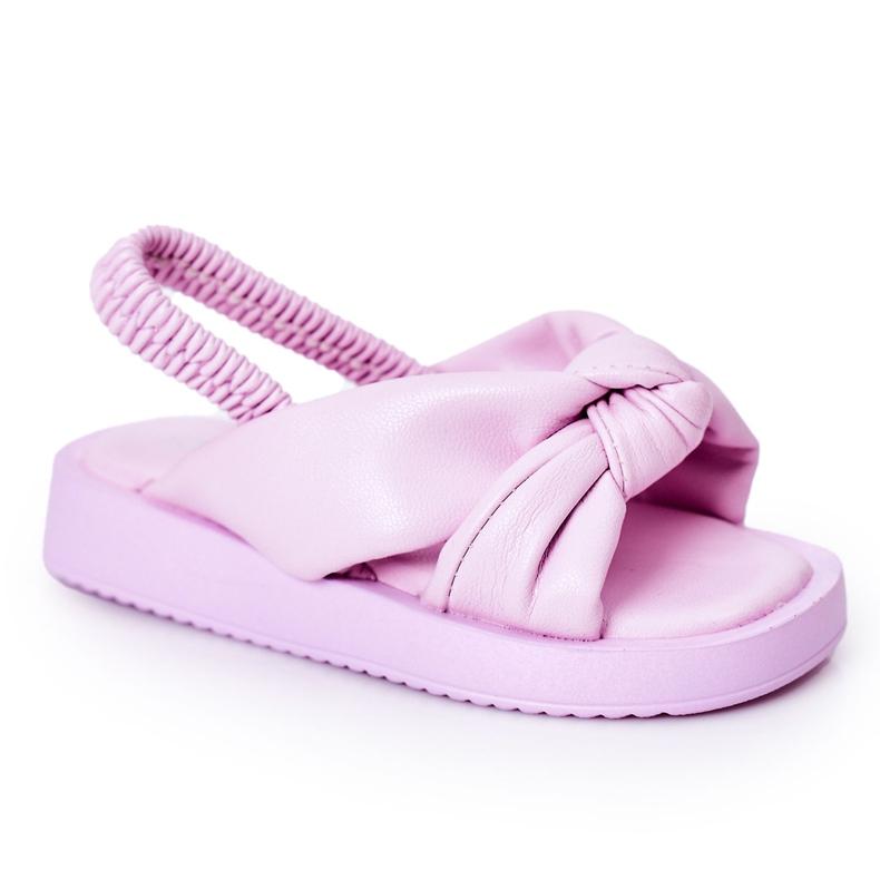 FR1 Sandale pentru copii cu gumă de sticlă violet cu nervuri