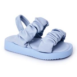FR1 Sandale pentru copii cu dulceață albastră cu nervuri albastru