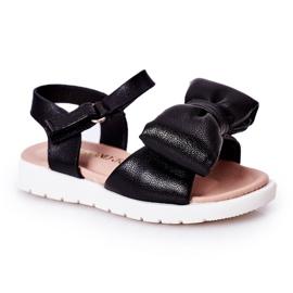 FR1 Sandale pentru copii cu arc Bow Abbie negru