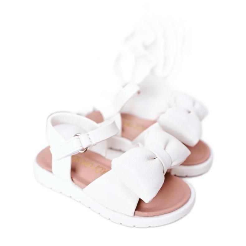 FR1 Sandale pentru copii cu un arc Abbie alb