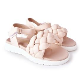 FR1 Sandale pentru copii cu Adella roz împletit