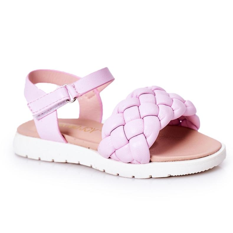 FR1 Sandale pentru copii cu Adella violet împletit