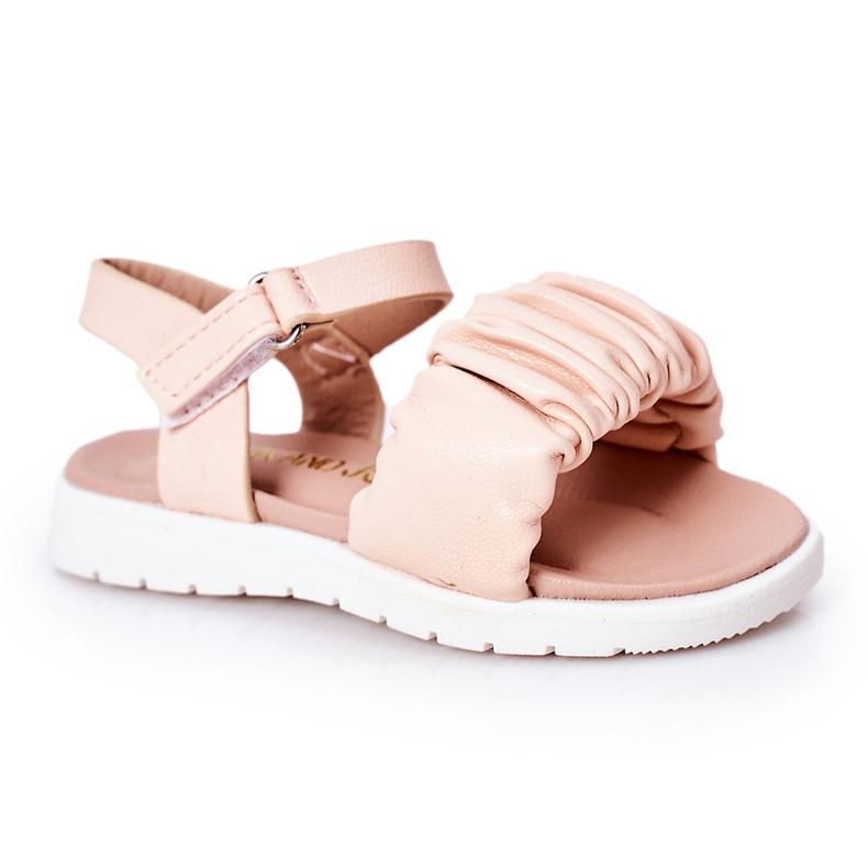FR1 Sandale pentru copii cu velcro roz Aimy