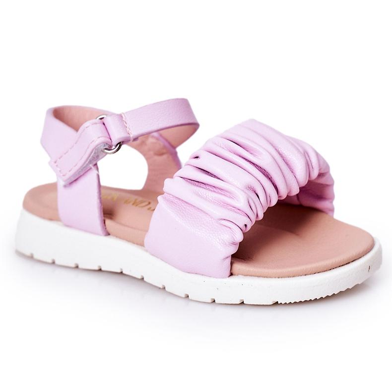 FR1 Sandale pentru copii cu Velcro Violet Aimy