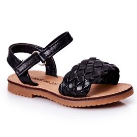 FR1 Sandale pentru copii cu Bailly negru împletit