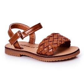 FR1 Sandale pentru copii cu cămilă împletită Bailly maro