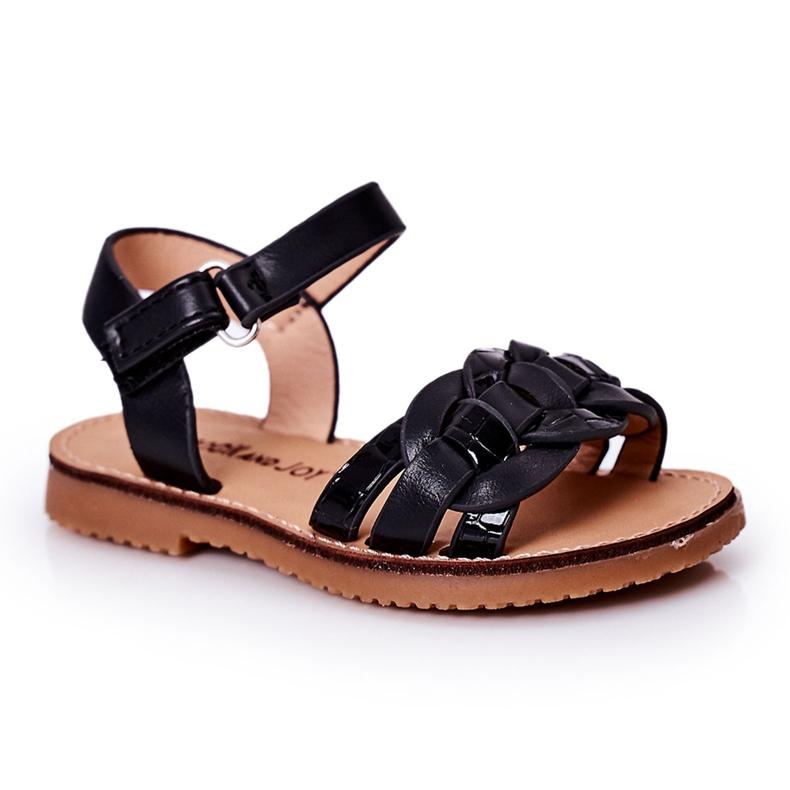 FR1 Sandale pentru copii cu model de șarpe Black Baxlee negru