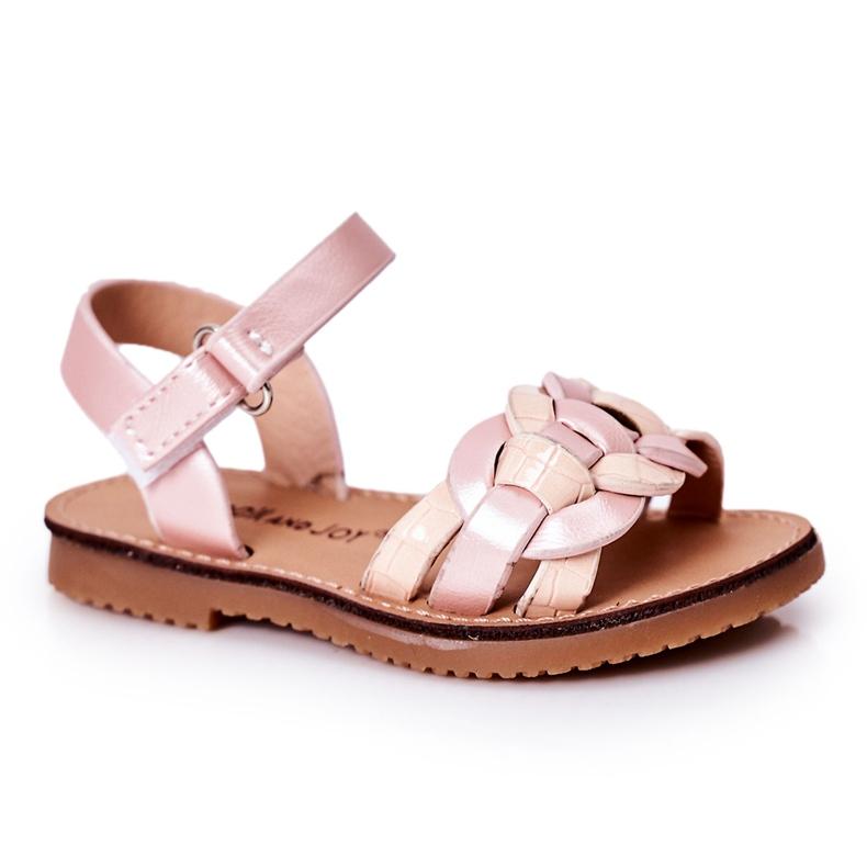 FR1 Sandale pentru copii cu model șarpe roz Baxlee