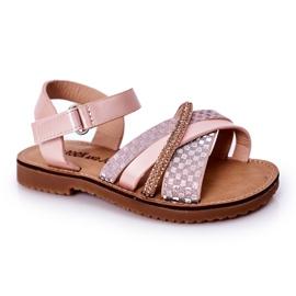 FR1 Sandale pentru copii cu paiete roz Becky