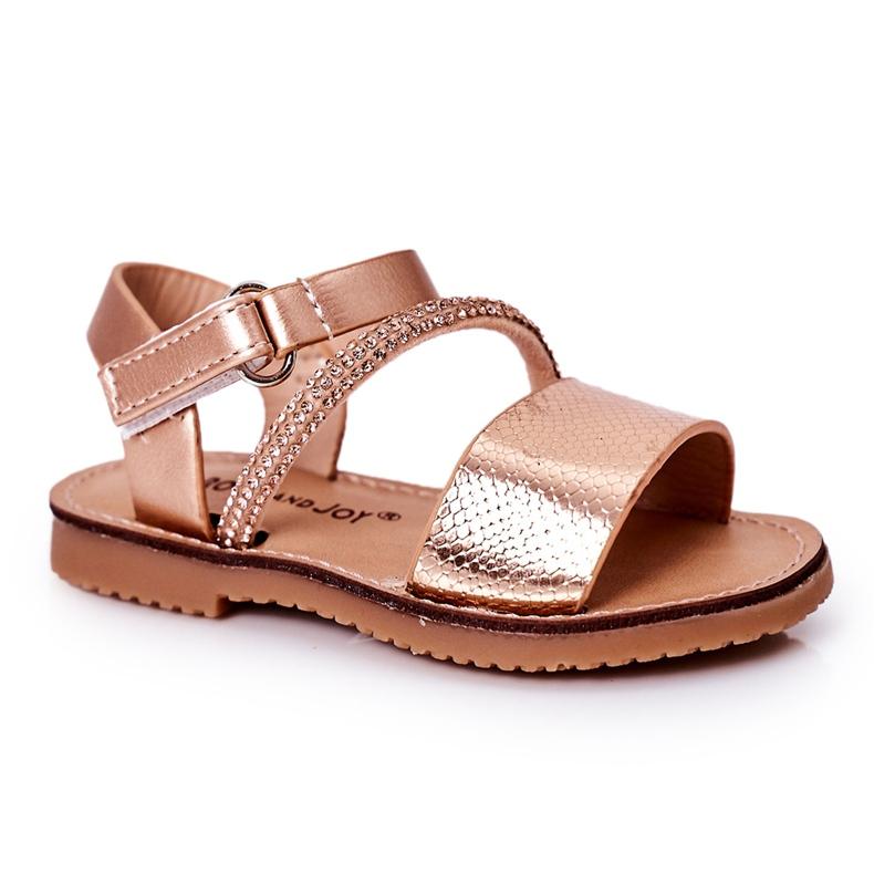 FR1 Sandale pentru copii cu paiete Rose Gold Blake de aur