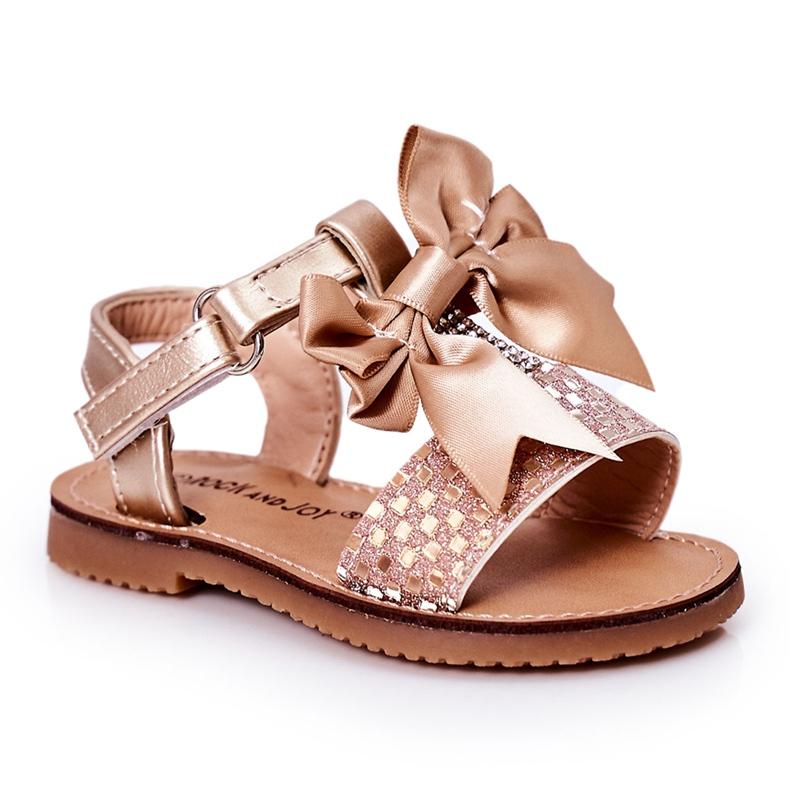 FR1 Sandale pentru copii cu arc Beebee de aur