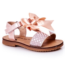 FR1 Sandale pentru copii cu arc Bow Beebee roz