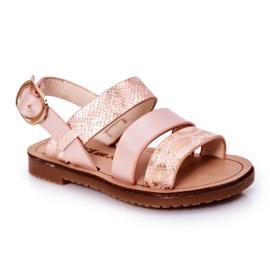 FR1 Sandale strălucitoare pentru copii Șarpe roz Natalie maro