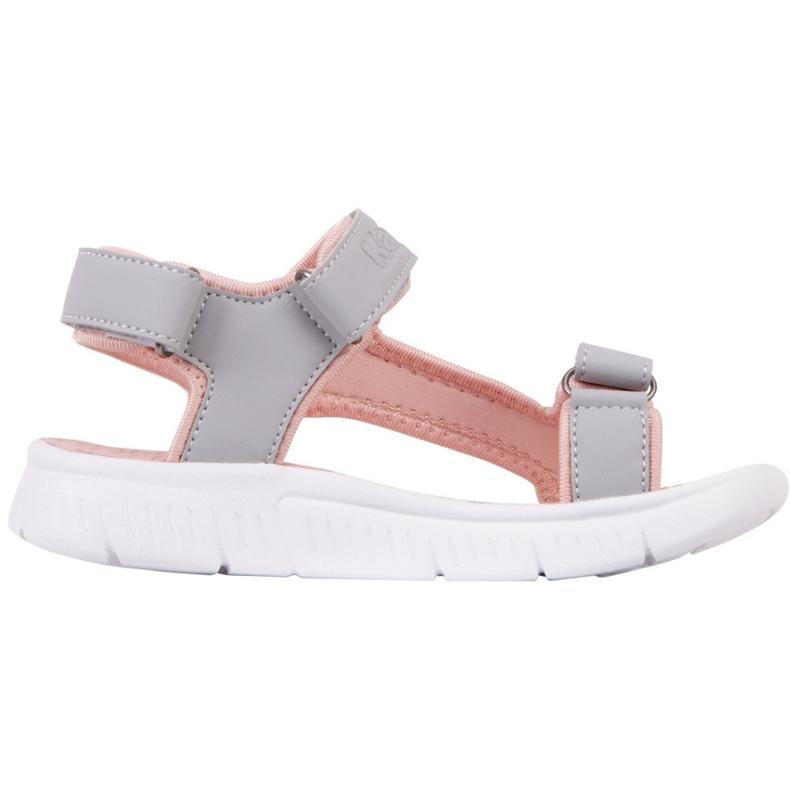 Sandale pentru copii Kappa Kana gri-roz 260886K 1421