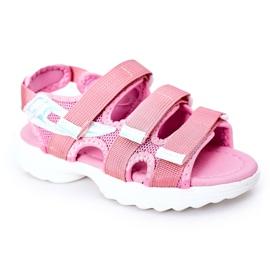 Sandale sport pentru copii cu velcro roz Flyn