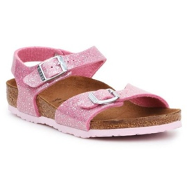 Sandale Birkenstock Rio Plain Jr 1018991 negru roz