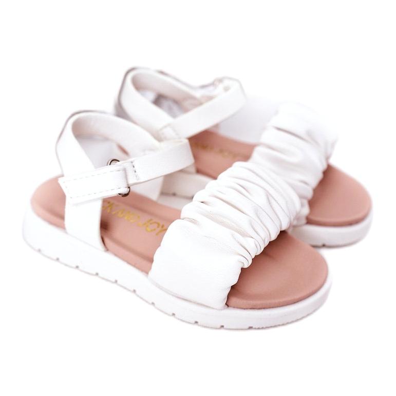 FR1 Sandale pentru copii cu velcro alb Aimy