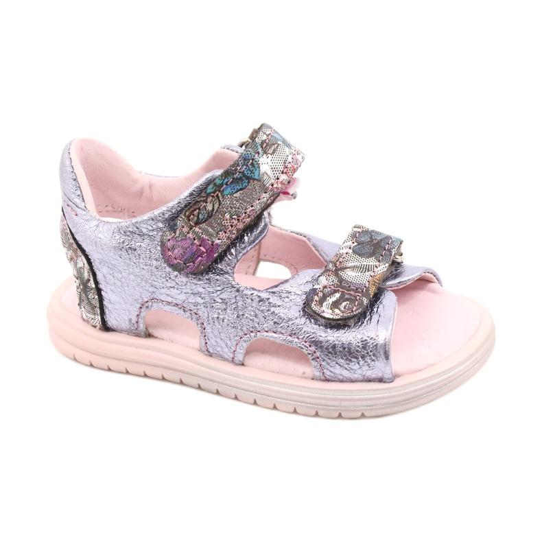 Sandale pe napi Mazurek 1314 Amethyst Pearl violet argint