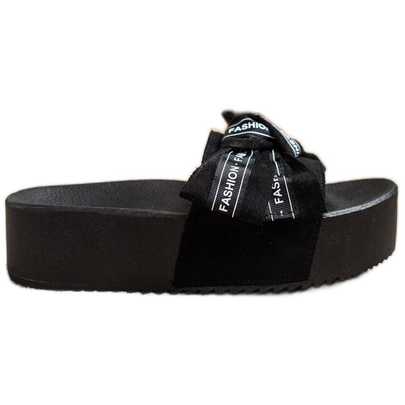 SHELOVET Papuci cu arc de moda negru