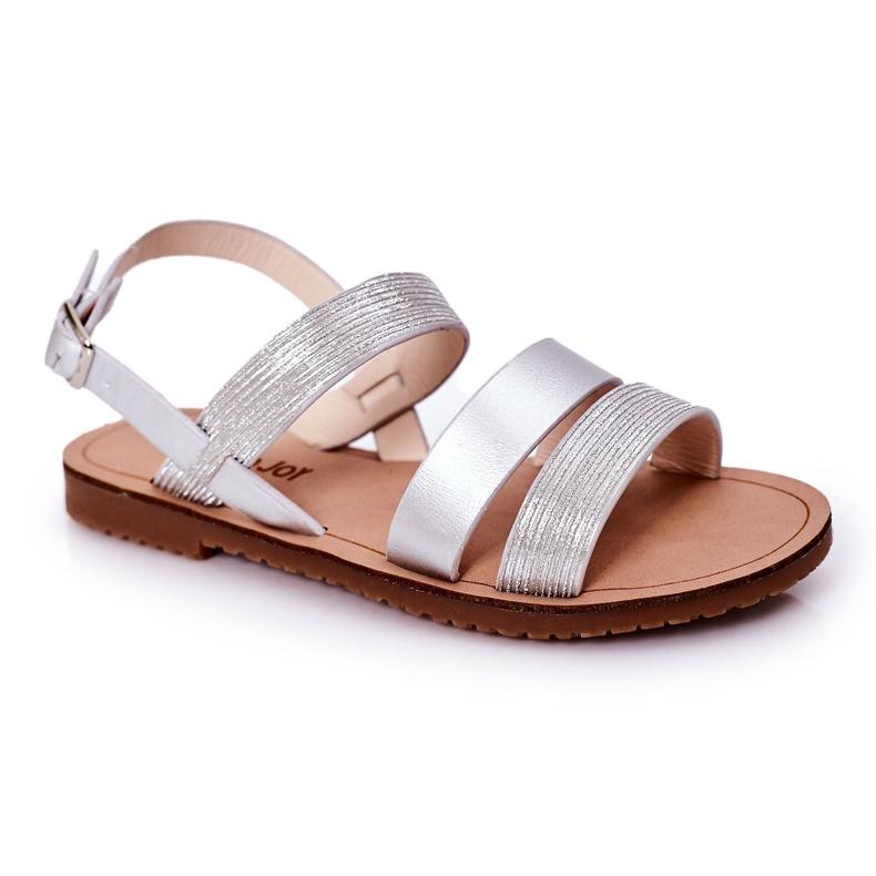FR1 Sandale argintii Natalie Shiny pentru copii