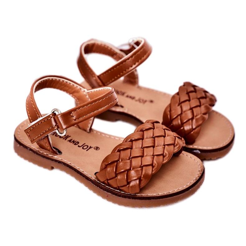 FR1 Sandale pentru copii cu cămilă împletită Bailly 283-3C maro