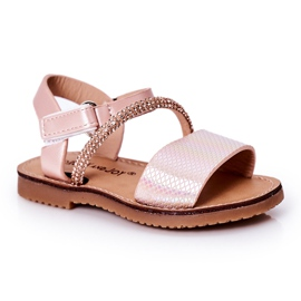 FR1 Sandale pentru copii cu paiete Pink Blake roz