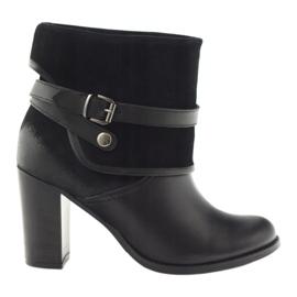 Pantofi de iarna clasic pentru femei de iarna Edeo 1754 negru