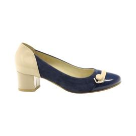Pantofi pentru femei Edeo 1900 albastru maro